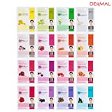 #6: Dermal Korea Collagen Essence Full Face Facial Mask Sheet (16 Combo Pack)