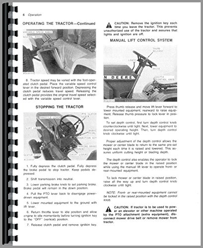 Operators Manual John Deere 214 212 210 200 Lawn & Garden Tractor ()