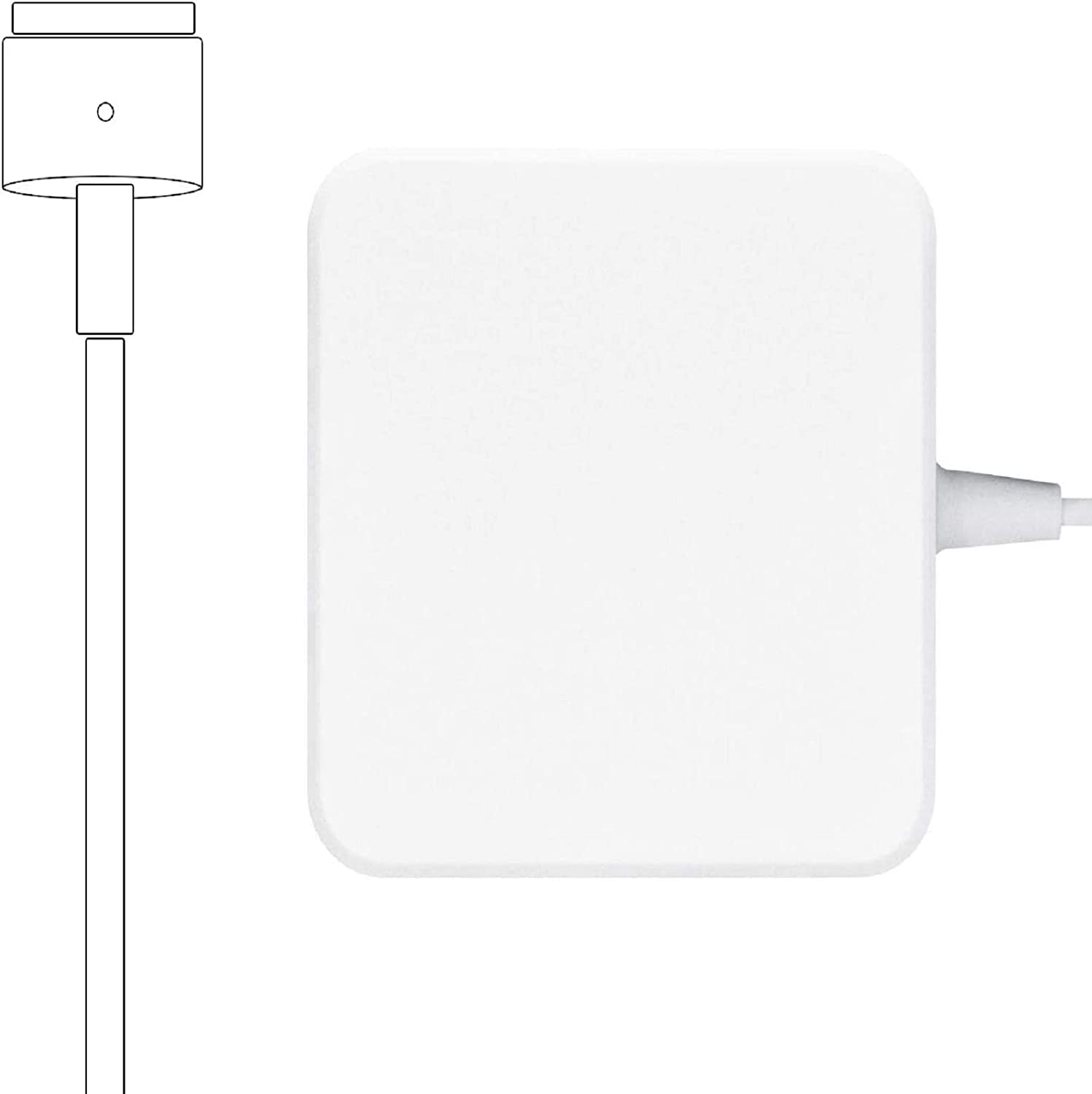 Mac Book Pro Charger, 60W T-tip Power Adapter Charger Compatible with MacBook Charger/Mac Book Air(After Late 2012)