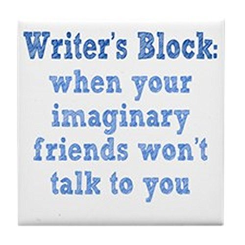 (CafePress - Writers-Block1 - Tile Coaster, Drink Coaster, Small Trivet)