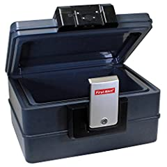 Safeguard your valuables from theft, fire, and water with the First Alert 2602DF Waterproof Fire Chest with Digital Lock. Featuring a capacity of 0.39 cubic feet, this fire-resistant safe offers enough space for your money, jewelry, important...