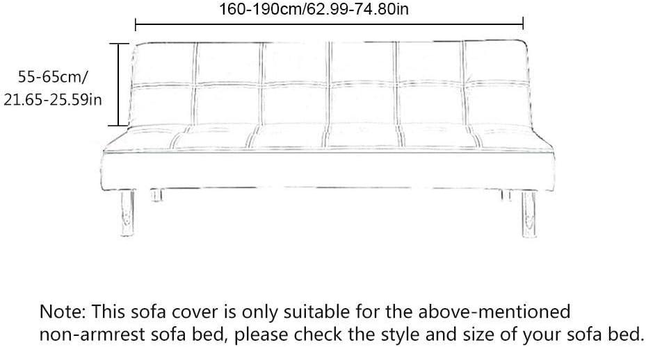 Couverture de Impression Extensible /Élastique coil.c Housse de Canap/é-lit Housse de Clic Clac pour Recouvrement Complet de Canap/és sans Accoudoirs