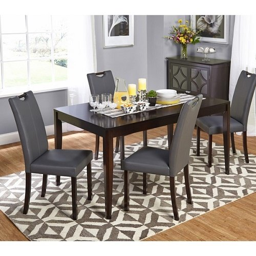 Home Living 5-piece Wenge Tilo Dining Set Chairs and Table
