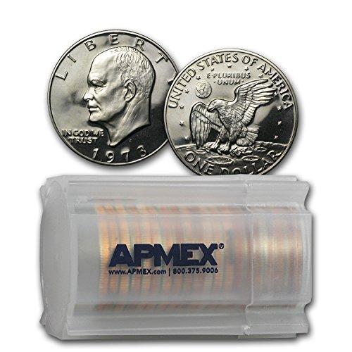 (1973 S Clad Eisenhower Dollar 20-Coin Roll Gem Proof $1 Brilliant Uncirculated)