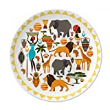 Africa Wild Animals Wildlife African Dessert Plate Decorative Porcelain 8 inch Dinner Home
