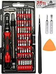 Premium 62 In 1 Professional Repair Tool Kit With 56 Magnetic Specialty Bit Set - Precision Screwdriver Set For Iphone X, 8, 7 & Below Phone Computer Tablet Xbox Playstation Electronics