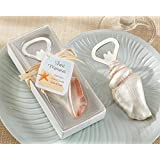 Bottle Opener Shore Memories Sea Shell with Thank you Tag (24 per order) Wedding Favors