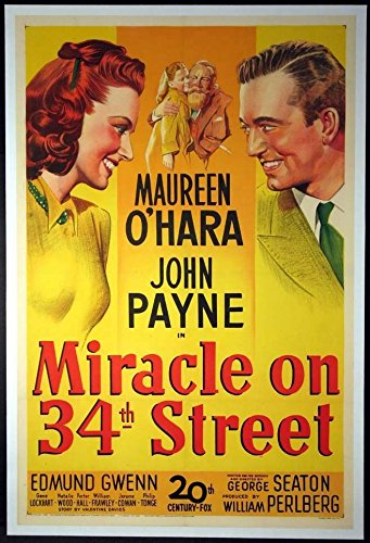 - MIRACLE ON 34TH STREET MAUREEN O'HARA NATALIE WOOD CHRISTMAS CLASSIC 1947 1-SHEET
