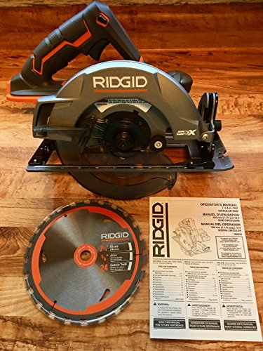 Rigid Power Tools (Ridgid Genuine OEM R8652 Gen5X Cordless 18V Lithium Ion Brush Motor 7 1/4 Inch Circular Saw (Batteries Not Included, Power Tool and Single Blade Only))