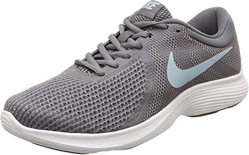 Nike Women's, Revolution 4 Sneaker Gray 10 M, Gunsmoke/Ocean Bliss/Dark Grey