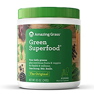 Amazing Grass Green Superfood: Organic Wheat Grass and 7 Super Greens Powder, 2 servings of Fruits & Veggies per scoop, Original Flavor, 30 Servings (B00112ILZM) | Amazon Products