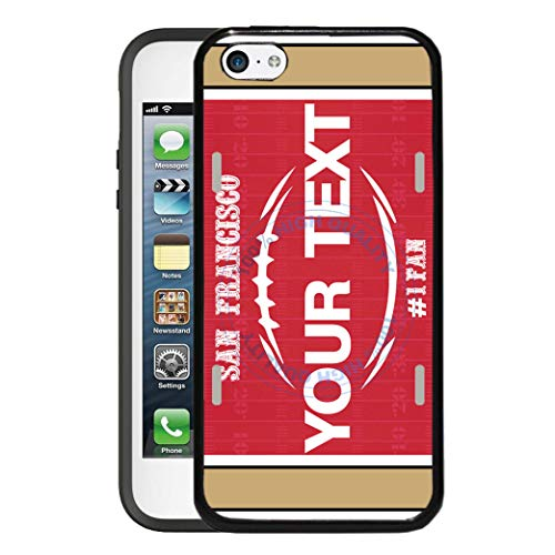 BRGiftShop Customize Your Own Football Team San Francisco Rubber Phone Case for Apple iPod Touch 5th & 6th Generation (49ers Cases Ipod Touch 5)