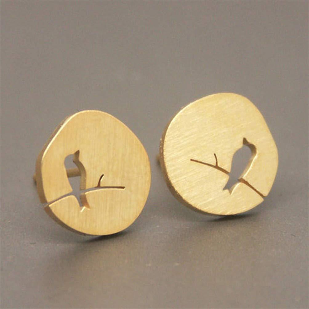 Eightgo Women Earing Classic Hollow Vintage Stud Earring for Women Party Earrings(Gold)