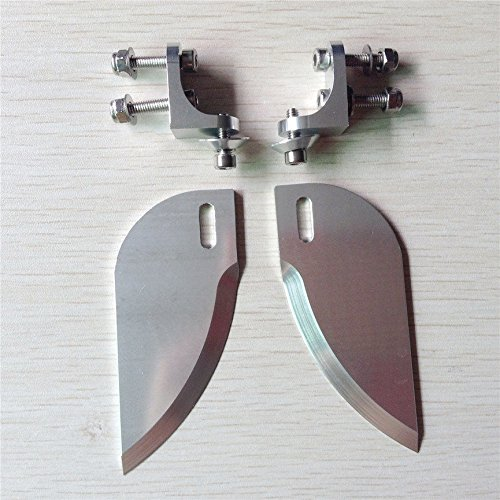 PerfectPlaza CNC Aluminum Alloy Turn Fins Set 82mm30mm for Applicable Above 1.3m RC Boat RC#207