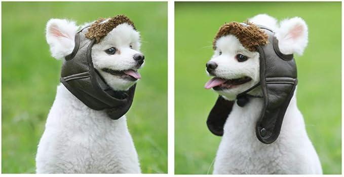 Kaffee, M YZLSM 1pack Hund Fliegerm/ütze Hundewinter-Pilot Hut Mit Ohrenklappen Pet Party-kost/üm-zusatz Pu Warme Hut F/ür Kleine Und Mittlere Hunde Tierbedarf