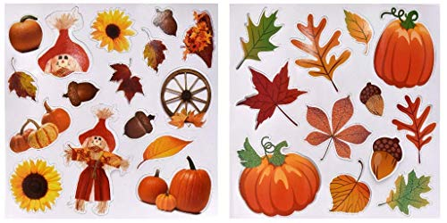 34 Pack of Autumn Harvest Decorative Magnets. Halloween & Thanksgiving Refrigerator Magnets]()