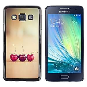 Be Good Phone Accessory // Dura Cáscara cubierta Protectora Caso Carcasa Funda de Protección para Samsung Galaxy A3 SM-A300 // cherry love hearts vignette minimalist