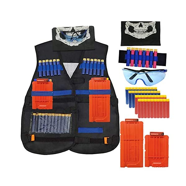 IHUKEIT-Kids-Tactical-Vest-Kit-Compatible-with-Nerf-Guns