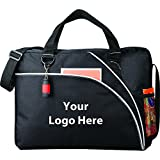 Double Curve Business Briefcase - 48 Quantity - $6.90 Each - PROMOTIONAL PRODUCT / BULK / BRANDED with YOUR LOGO / CUSTOMIZED