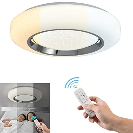 Amazon.com: Smart Contemporary LED Flush Mount Light ...