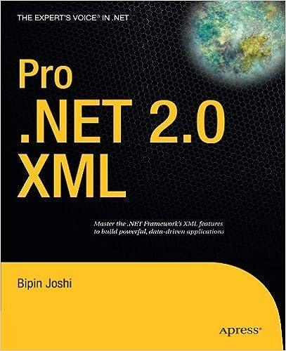 Book Pro .NET 2.0 XML (Expert's Voice in .NET) by Bipin Joshi (2007-04-15)