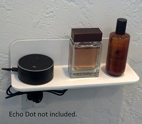 "ELhook Stick-on Small Shelf (White 12"")"