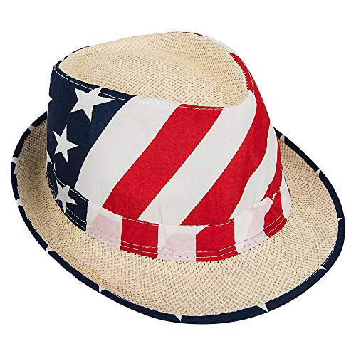 Olympic Themed Costumes - Mozlly Patriotic USA Flag Fedora