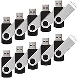 RAOYI 100PCS 4GB USB 2.0 Bulk Flash Drives Swivel Bundle Memory Stick Storage Lots(100 Pack,Black)