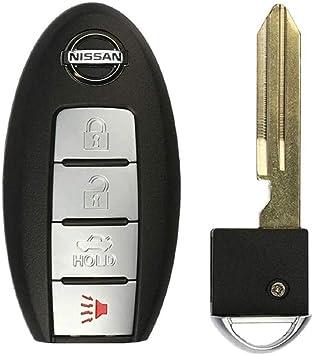 4 Button Nissan Smart Proximity Keyless Remote Cwtwb1u840 Includes Uncut Emergency Key
