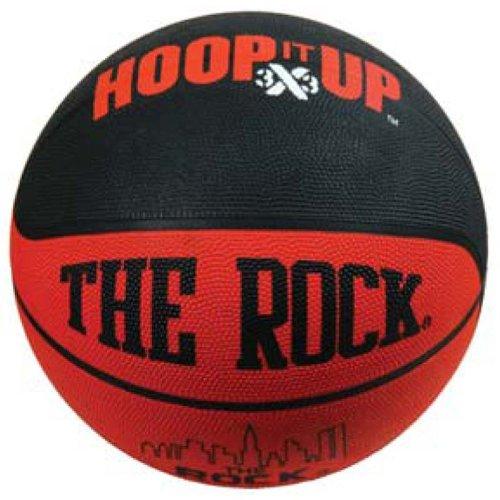 (Anaconda Sports® The Rock® MG-4200-HIU Men's Rubber Basketball with Hoop It Up 3x3 Logo)