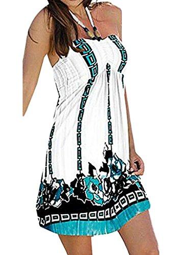 Halter Floral Tube Dress Top - 1