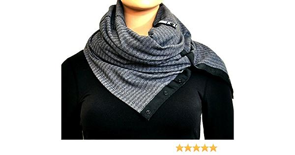 XXL Musselintowel neckscarf triangular scarf buds with uni light grey