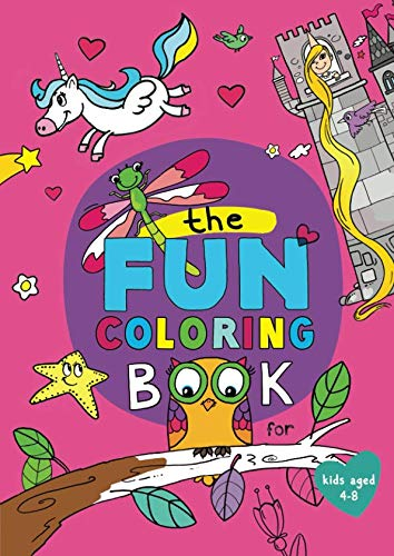Book cover from The Fun Coloring Book (US edition): for kids aged 4-8 by Peta Lemon