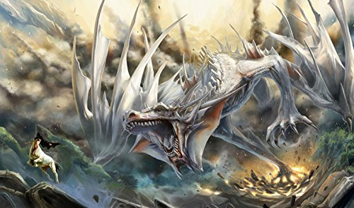 MTG White Dragon PLaymat