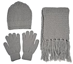 Amazon.com: Knitted Winter Set - Beanie, Gloves and Scarf