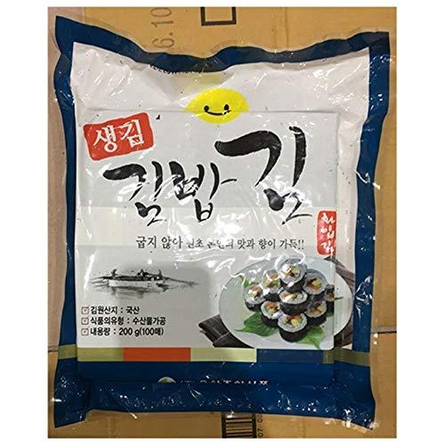 Korea Roasted Seaweed Full Size 1 pack (100EA) Non Roasted by Hwaip