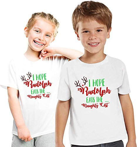 f1618116 Amazon.com: Rudolph Christmas Pajama Matching Shirts,Family Christmas  pajama tees, Kids Christmas Shirts: Handmade