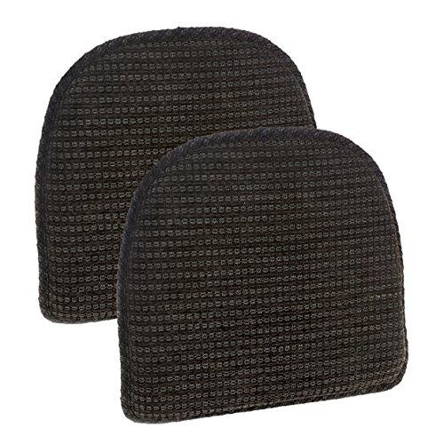Klear Vu Staten Gripper DelightFill Non-Slip Dining Chair Pads, 15″ x 16″, Set of 2 Cushions, 15″ x 16″ x 2″