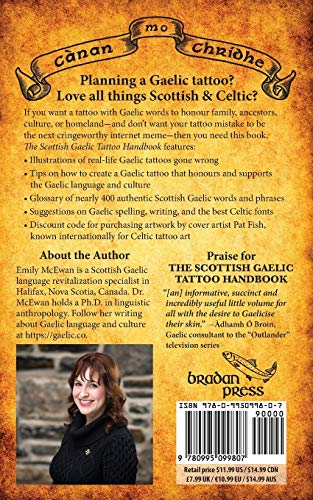 The Scottish Gaelic Tattoo Handbook: Authentic words & phrases in the Celtic language of Scotland
