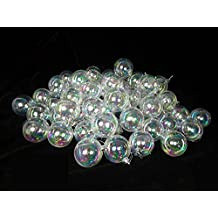 """Northlight 60ct Clear Iridescent Shatterproof Christmas Ball Ornaments 2.5"""" (60mm)"""