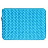 15 inch Laptop Sleeve, TechCode 15-15.4 Inch Laptop Sleeve Carrying Case Cover Protective Bag Pouch for 15-15.4'' Ultrabook,Notebook Computer,Laptop or More(Blue)