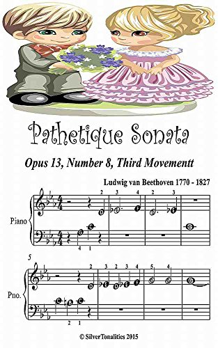 Pathetique Sonata Opus 13 Number 3 Third Movement Beginner Tots Piano Sheet Music Sonata Number