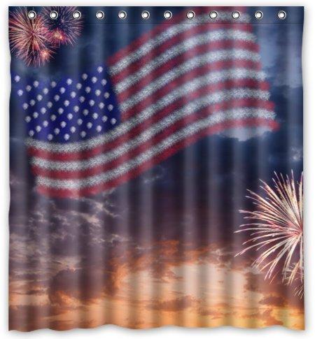 Outlet-Seller Custom Beautiful American Flag and Firework Waterproof ...