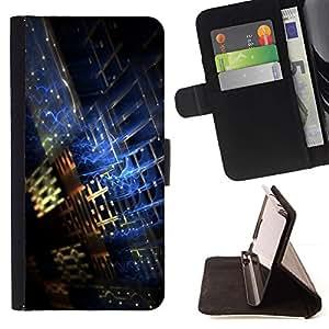 Momo Phone Case / Flip Funda de Cuero Case Cover - Plaid Resumen Negro azul del cielo nocturno - MOTOROLA MOTO X PLAY XT1562
