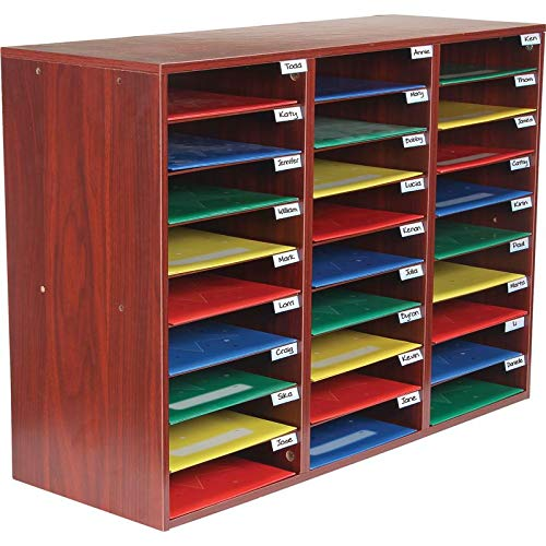 (Really Good Stuff Classroom Mail Center - 27 Slots (Mahogany))