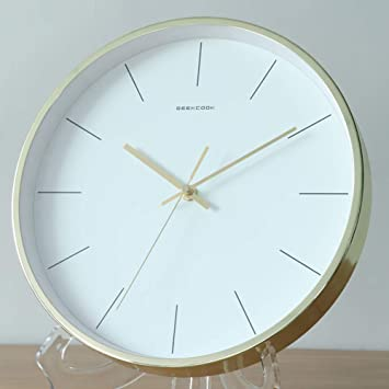 Modern Clocks For Living Room.Amazon Com Round Classic Clock Quartz Silent Clear To Read
