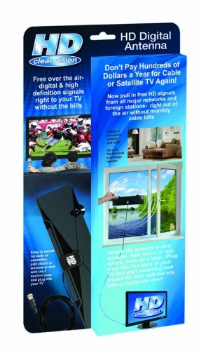 (As Seen on TV HD-12 HD Clear Vision Ultra-Thin High Performance Indoor HDTV Antenna - Free Over The Air Digital TV )