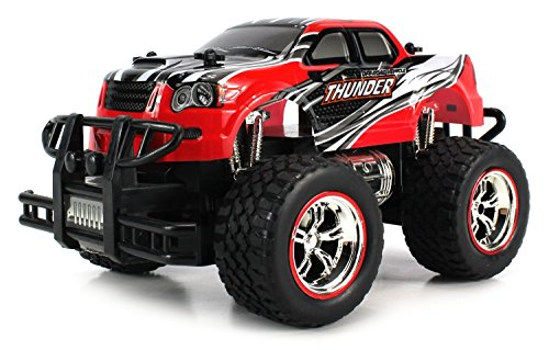 Velocity Toys Mini V-Thunder Storm RC Truck 1:24 Scale Size Off Road Series Rechargeable Ready To Run RTR (Colors May Vary) (Range Rover Sport Diecast 1 24 compare prices)