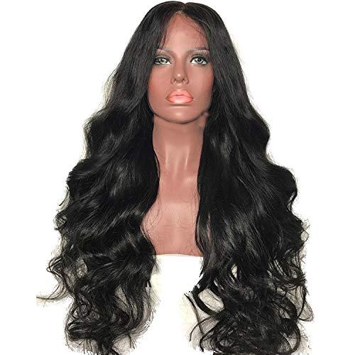 Body wave 13x6 Lace Front Human Hair Wigs Glueless Brazilian Non Remy Hair For Women Natural black hair Color bleached knots,Natural Color,12inches