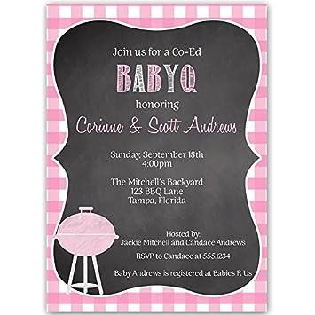 amazon com baby shower invitations baby q girls pink